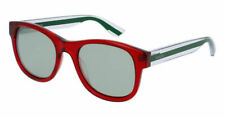 New Gucci Sunglasses GG0003S 004 Red/Crystal w/Silver Mirrored Lens