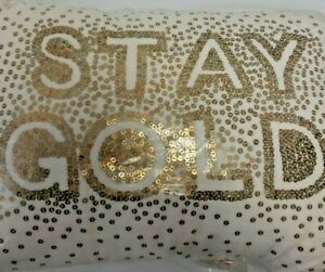 WHIM BY MARTHA STEWART COLLECTION STAY GOLD 14'' X 20'' DECORATIVE PILLOW