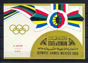 ARABIA OMAN  FOLDER BOOKLET  =GOLDFOLIE  ST.= OLYMPICS = OVERPR. D.MEYER USA =