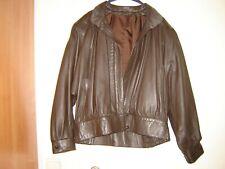 Blouson-veste femme cuir marron taille 42/44 -