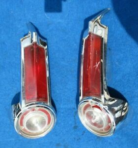 1965 PLYMOUTH BARRACUDA VALIANT Rear Tail Light Complete Assembly Pair MOPAR