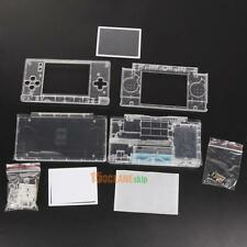 Replacement Case For Nintendo DS Lite Housing Shell Screen Lens Crystal Clear