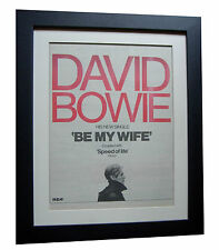 DAVID BOWIE+Be My Wife+POSTER+AD+RARE ORIGINAL 1977+FRAMED+EXPRESS GLOBAL SHIP