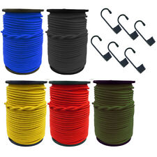 ELASTIC BUNGEE + HOOKS - SHOCK CORD ROPE TIE DOWN STRAPS VARIOUS SIZES