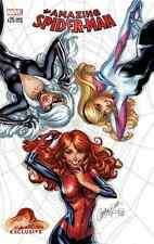 AMAZING SPIDERMAN 25 J SCOTT CAMPBELL COVER A VARIANT BLACK CAT MARY JANE GWEN