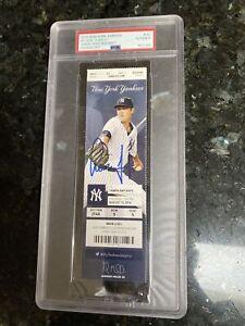 🔥RARE! AARON JUDGE SIGNED MLB DEBUT 1st HR/HIT TICKET STUB PSA JSA COA AUTO🔥