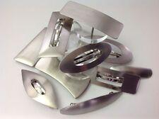 2 x Haarspange aus gebürstetem Metall puristisch - ca. 8-10 cm - Modell wählbar