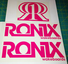 2011 RONIX PINK LOGO STICKER You Get 2 WAKEBOARD DECAL