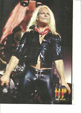 David Lee Roth, Van Halen, Full Page Pinup