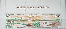 ST. PIERRE MIQUELON SPM 1987 554-55 505a Zf Great Barachoise Nature Reserve MNH