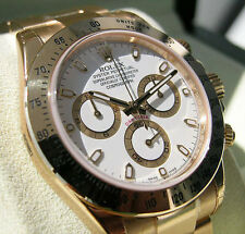 Rolex DAYTONA 116508 Mens Yellow Gold Oyster Bracelet White Index Dial 40MM