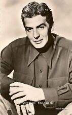 CARTE POSTALE PHOTO CELEBRITE ACTEUR VICTOR MATURE
