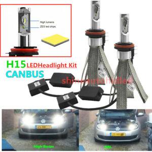 Car LED Headlight bulbs Canbus Kit 5700K H15 D1/D3 D2/D4 S/R Auto lighting lamps