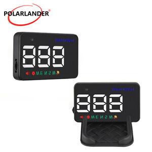 "3.5"" GPS HUD Car Head Up Display Speedometers Projector Overspeed Warning Kit A5"