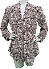 Michael Kors Leopard Print Tunic Top Shirt Women's Size Medium (M) New with Tags