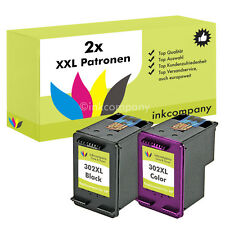 2x cartuchos HP 302 XL OfficeJet 4654 3830 3834 4650 Deskjet 2130 3630 1110 3630