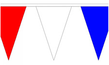 Red White & Blue 20M Triangle Flag Bunting - Large 54 Flags - Triangular