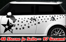 97 Sterne Star Auto Aufkleber Set Sticker Tuning Shirt Stylin WandtattooTribel w