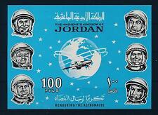 [20624] Jordan 1965 Space Travel Weltraum Astronauts Imperf. Sheet MNH