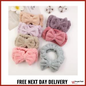 Big Bow Super Soft Spa Facial Makeup Hair Band Bath Shower Wrap Towel Headband