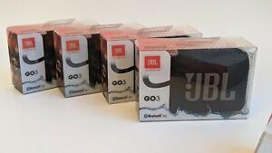 Genuine JBL Go 3 Portable Waterproof Speaker - Black - New - Fast Shipping