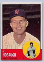 1963  ED HOBAUGH- Topps Baseball Card # 423 - WASHINGTON SENATORS