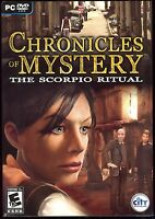 Chronicles of Mystery Scorpio Ritual PC Video Game New & Sealed w/ Slipcover
