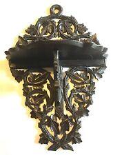 Excelente Tallada Antigua Reloj de la selva negra/Soporte Plegable