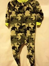Black & Gray CAMO Cozy One Piece Sleepwear Flame Resistant Size 2T NEW w/ Tag