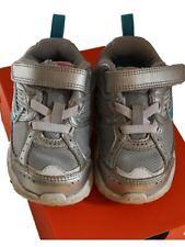 Baby Girl Nike Dart 8  Silver Blue Tennis Sneaker Athletic Shoe Size 5.5 M LN