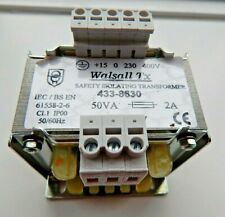 WALSALL TRANSFORMER 50VA ISOLATING TRANSFORMER 230 400v - NEW AND BOXED
