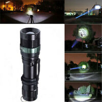 10000LM 3Mode Zoomable LED 18650 Flashlight Torch Lamp Outdoor Light