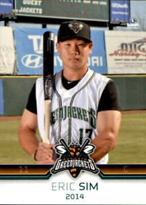 2014 Augusta Greenjackets Brandt #14 Eric Sim Abbotsford BC Canada Baseball Card