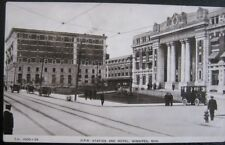 CANADA ~ 1900's WINNIPEG MAN ~ C. P. R. TRAIN STATION AND HOTEL ~ PUGH RPPC