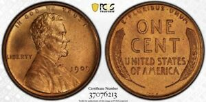 1909 VDB Lincoln Wheat Cent Penny PCGS MS65RD Red Gem
