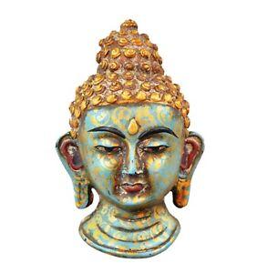 Collectible Antique Resin Buddha mask wall mask wall hanging sculpture Budda