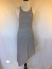 Women's MINKPINK Asymmetric Tank Dress White Black Stripe Size XS 100% Cotton