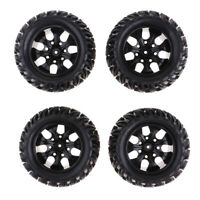 RC 1:10 Monster Truck Truggy Rubber Tyre Tires & 12mm Hex Wheels Set - 4PCS