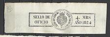 Z1-SELLO FISCAL TIMBROLOGIA SELLADO FERNANDO VII 1824