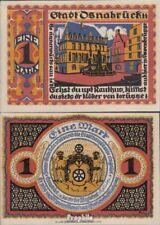 Deutsches Reich Notgeld: 1032.1 Notgeld der Stadt Osnabrück bankfrisch 1921 1 Ma