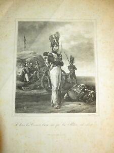 Horace VERNET GRANDE LITHO GRENADIER  NAPOLEON ILE ELBE ISOLA ELBA ITALIA 1830