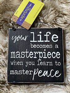 New Your Life Becomes A Masterpiece Wall Mount Sign Hobby Lobby