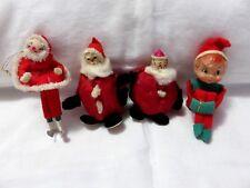VINTAGE CHRISTMAS CLOWN SANTAS ELF SANTA ON ICE SKATES