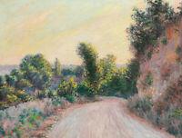 Road Chemin Claude Monet Wall Art Print Painting Room Wall Decor Reproduction SM