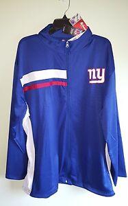 NWT Majestic New York Giants NFL Football Women's 2X 3X 4X Zip Jacket    #907517