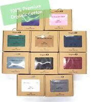 "Pure Organic 100% Premium Cotton 600 Sheet Set 16"" Deep Pocket Bedding Cover"