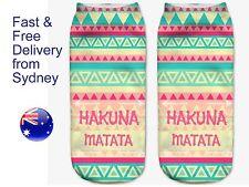 Hakuna Matata socks - No worries Lion king philosophy novelty low cut socks