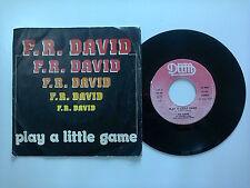 "F.R. David / Play A Little Game-Disco Vinile 45 Giri 7"" Stampa Italia1983"