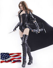1/6 Sexy Leather Arrow Assassin Suit For Black Widow Phicen Hot Toys Figure USA