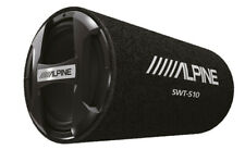"Alpine SWT-S10 1200W Max 250W RMS Single 10"" Sealed Subwoofer Tube Enclosure"